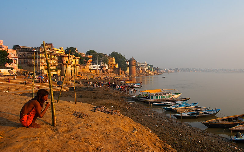 Dawn on the Ganges.  Varanasi