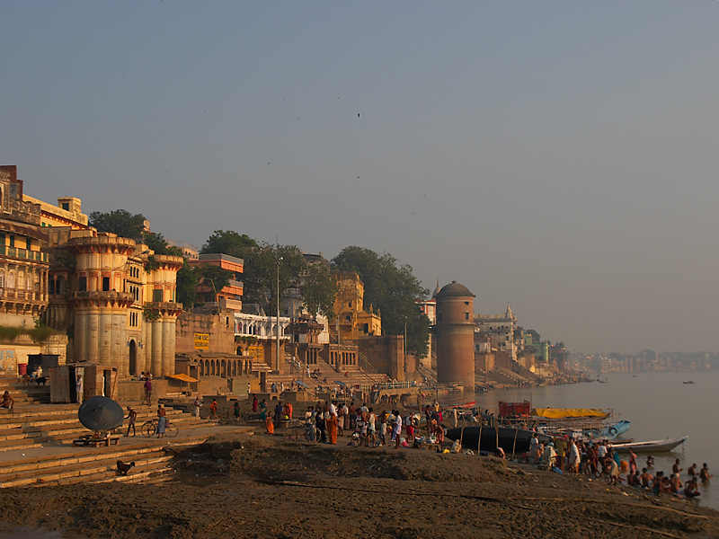 The ghats at Varanasi